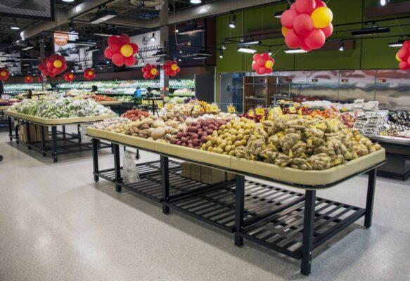 Potato Market Tables - Terra Supermarket