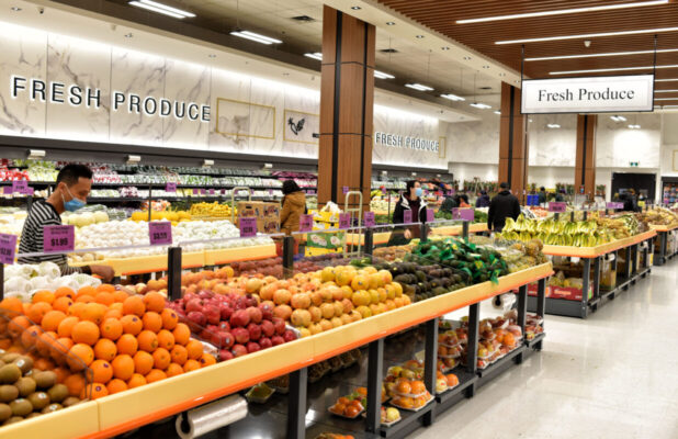 Tropical Fruit Tables With Undermount Storage - Freshway - Markham Ontario