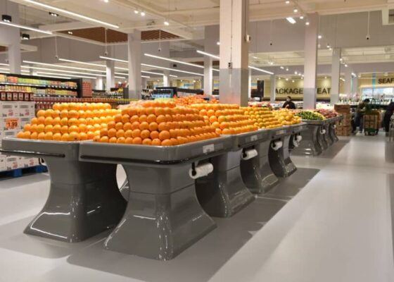 citrus and lemon tables in AMPLE FOOD MARKET market tables