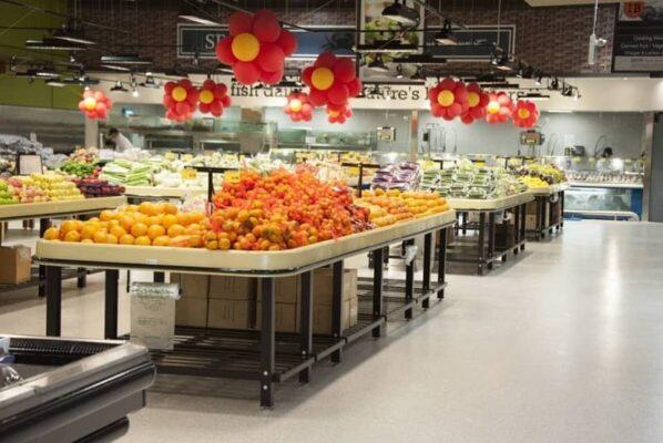 citrus and lemon tables in TERRA SUPERMARKET