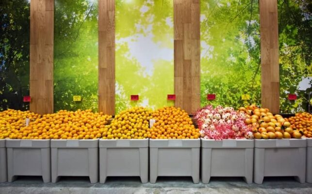 citrus and lemon tables in WINCO orchard bins